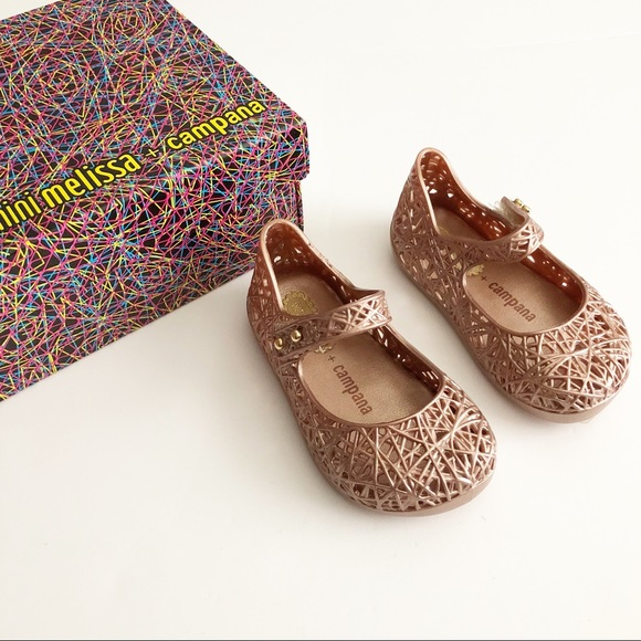 c0170cf452b2 Mini Melissa bronze zig zag Shoes